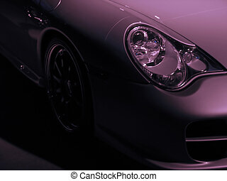 exotic car detail - detail of a really expensive silver...