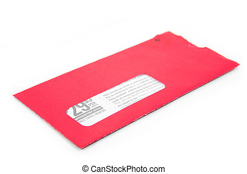 envelope - red advertising envelope