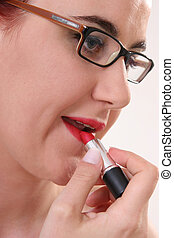 Nice Lips - Girl with glasses and lipstick