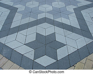 Tile pavement with star figure