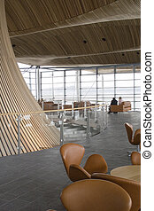 Welsh Assembly Building cafe lounge balcony - Views from the...