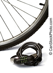bike lock and wheel