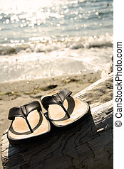 Beach sandals - Sandals on the beach