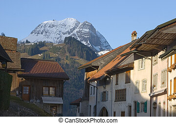 Gruyeres - The Swiss village of Gruyeres