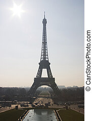 Postcard from Paris - The Eiffel Tower in Paris, France