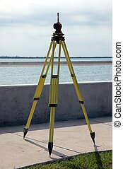 Surveying - Photographed surveying at a local street in...