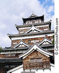 Japan Hiroshima Castle - A city of southwest Honshu, Japan,...