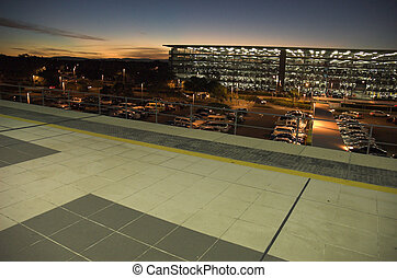 In Transit - Brisbane Airport, Australia Just off a plane,...