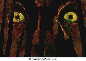 Yellow eyes - Background illustration