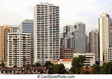 Downtown Bangkok - Towerblocks in central Bangkok