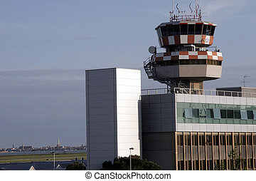 Airport of venice with skyline - Airport of venice with the...