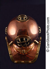 dive helmet - old style copper diving helmet