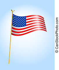 Flag USA - 1 - Digital illustration from scratch Gradients