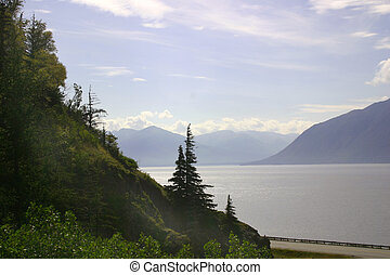 Turnagain Arm - A beautiful view of forests and mountains...