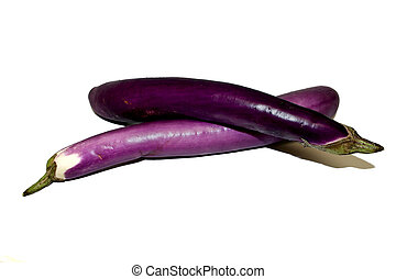 Vegetable - Chinese Eggplant - who purple eggplant make a x...