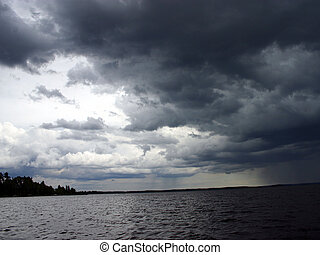 Stormy Skies over a lake