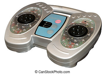 Infrared blood circulation foot massager device isolated on...