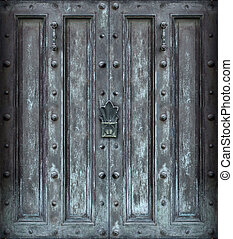 Big solid iron door - Big solid iron protected door