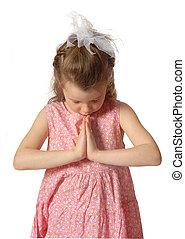 Praying - little girl praying