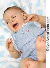 bebé, niño, llanto