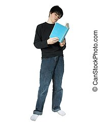 reading 4 - isolated teen reading