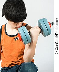 work out #3 - isolated teen working out