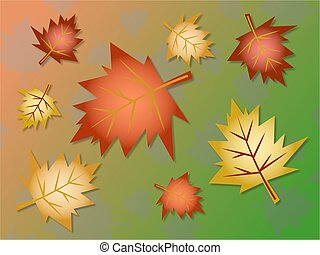 fall leaves - autumn leaves background design