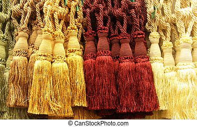 Display of tassels