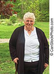 abuelita, bastón