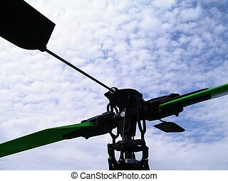 Helicopter Flaps - Wings of an RC Helicopter ready to take...