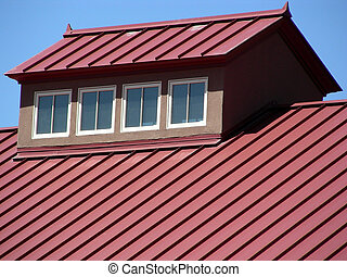 Diagonal Lines - Propanel roofing, which sheds snow, atop a...