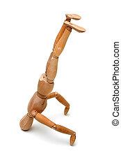 Figurine - Head Stand - Figurine Pose - Head Stand