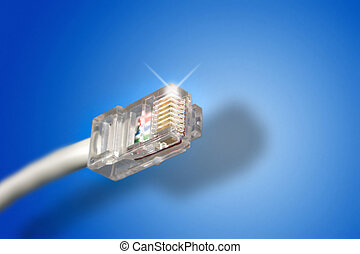 Ethernet Cable in a blue background