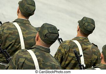 Russian army - soldiers(focusing point on back of the head...