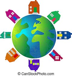 property world - real estate concept globe