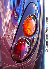 PT Cruiser Taillight - Retro taillights on a PT Cruiser car...