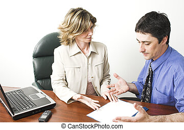 business team working in boardroom
