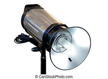 Studio flash light isolated - Studio flash photography...