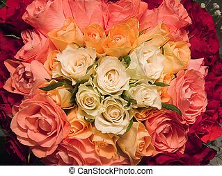 Heart from roses. - Roses, (raw,tiff version of this image...