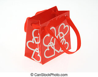 love gift bag on white 2