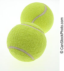 two tennis balls on