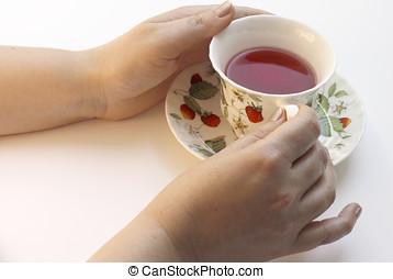 Teetime - Woman likes fruit tea.