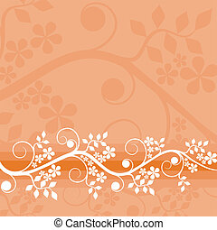 Floral background, vector - Floral background