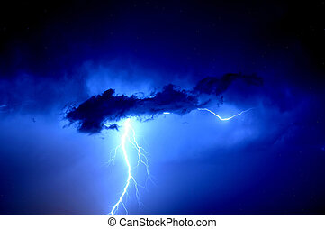 Bolt Out of The Blue - A lightning bolt surrounded by an...