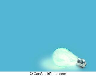 lightbulb - Background with lit lightbulb