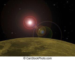 Orbit - In orbit around a planet
