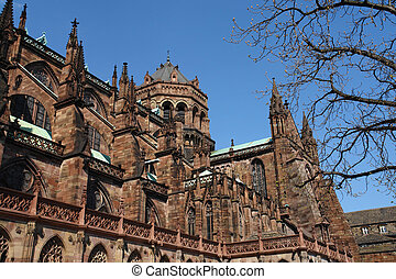 Strasbourg Minster - Strasbourg cathedral is called minster...