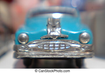 tiny blue car - a little toy car with great character