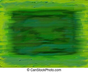 green on green textured background painting