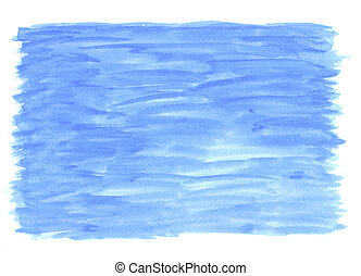 Blue Watercolour Wash - Watercolour paint wash with white...